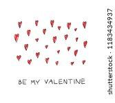 be my valentine romantic... | Shutterstock .eps vector #1183434937