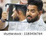 portrait of handsome black man... | Shutterstock . vector #1183436764