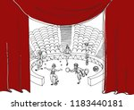 circus performance . sketch... | Shutterstock .eps vector #1183440181