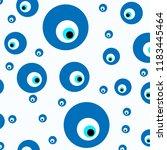 white background evil eye... | Shutterstock .eps vector #1183445464