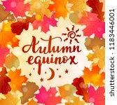 autumn equinox    handwritten... | Shutterstock .eps vector #1183446001