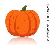 pumpkin flat icon. sign of... | Shutterstock .eps vector #1183450261