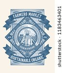 farmers organic sustainable... | Shutterstock .eps vector #1183463401