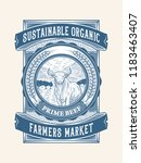 sustainable organic beef... | Shutterstock .eps vector #1183463407