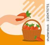 vegetables fresh natural | Shutterstock .eps vector #1183470751
