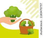vegetables fresh natural | Shutterstock .eps vector #1183470757