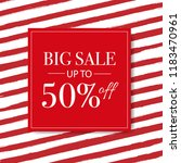 rebajas  sale  banner with red... | Shutterstock . vector #1183470961