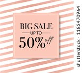 sale banner with pink... | Shutterstock . vector #1183470964