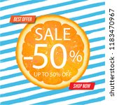 sale banner with blue... | Shutterstock . vector #1183470967
