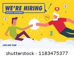 we're hiring graphic designer.... | Shutterstock .eps vector #1183475377