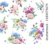 seamless floral pattern with... | Shutterstock .eps vector #1183475674