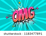 omg ouch oops wow comic text... | Shutterstock .eps vector #1183477891