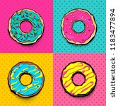 set doughnut sweet food  donut... | Shutterstock .eps vector #1183477894