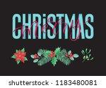 vector holidays lettering.... | Shutterstock .eps vector #1183480081