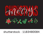 vector holidays lettering.... | Shutterstock .eps vector #1183480084