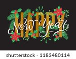vector holidays lettering.... | Shutterstock .eps vector #1183480114