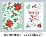 vector set of holidays design.... | Shutterstock .eps vector #1183480117