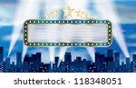 vector horizontal blue blank... | Shutterstock .eps vector #118348051