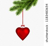 vector red christmas decoration ...   Shutterstock .eps vector #1183483654