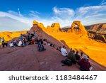 delicate arch  ut  usa  april...   Shutterstock . vector #1183484467