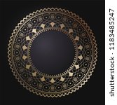 decorative round frame for... | Shutterstock .eps vector #1183485247