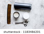 mens cosmetics for hair in... | Shutterstock . vector #1183486201