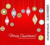 beautiful design christmas... | Shutterstock .eps vector #118348885