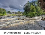 The River Dochart In Spate As...