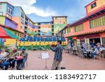 guatape  colombia  march 6 ... | Shutterstock . vector #1183492717