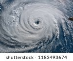 Satellite view. hurricane...
