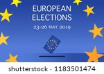 european elections 2019 | Shutterstock .eps vector #1183501474