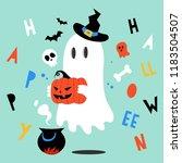 halloween ghost. halloween... | Shutterstock .eps vector #1183504507