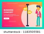 businessman choosing the right... | Shutterstock .eps vector #1183505581