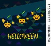 halloween autumn pumpkin fallen ... | Shutterstock .eps vector #1183507321