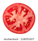 tomato slice isolated on white... | Shutterstock . vector #118351027