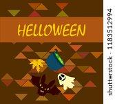 halloween autumn fallen leaves...   Shutterstock .eps vector #1183512994