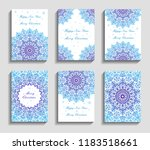 christmas cards with mandala... | Shutterstock .eps vector #1183518661