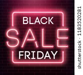 black friday sale neon... | Shutterstock .eps vector #1183520281