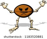 football as a cartoon skeleton... | Shutterstock .eps vector #1183520881