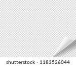 bending paper vector mockup.... | Shutterstock .eps vector #1183526044