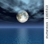 the full moon at quiet night  ... | Shutterstock . vector #11835313