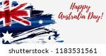happy australia day. holiday... | Shutterstock .eps vector #1183531561
