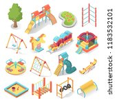 kids playground bright... | Shutterstock .eps vector #1183532101
