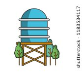 water tank at nature | Shutterstock .eps vector #1183534117