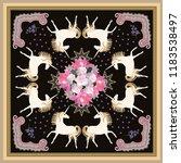 luxury bouquet of flowers ... | Shutterstock .eps vector #1183538497