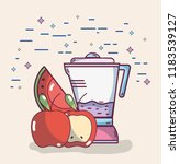 fruits smoothie drink | Shutterstock .eps vector #1183539127
