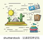 travel and vacations   Shutterstock .eps vector #1183539151