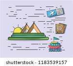 travel and vacations | Shutterstock .eps vector #1183539157
