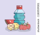 fruits and water | Shutterstock .eps vector #1183539301