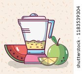 fruits smoothie drink | Shutterstock .eps vector #1183539304